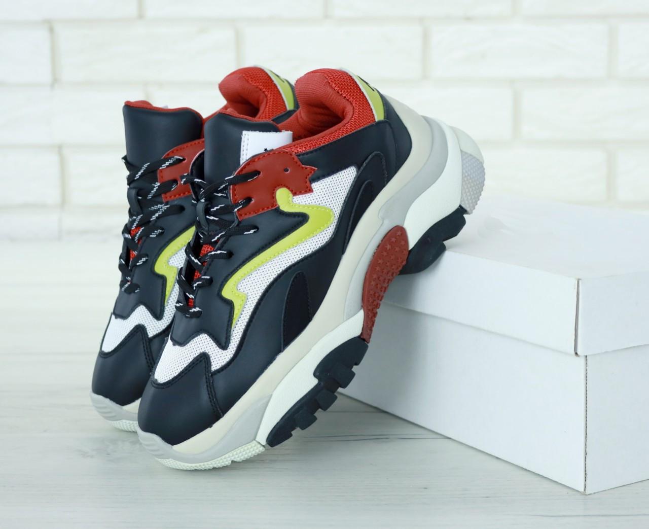 Женские кроссовки Ash Addict Sneakers (Сине-белые)