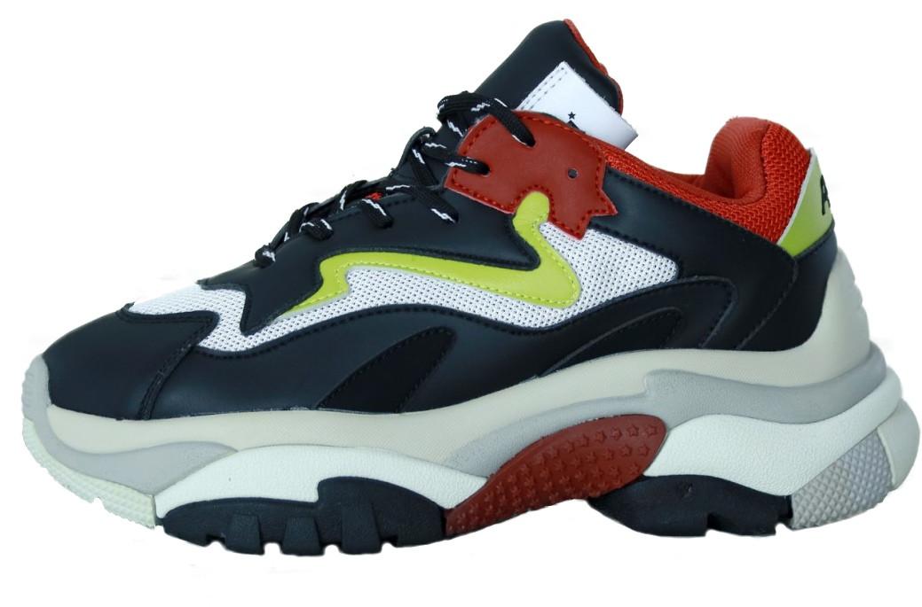 """Женские кроссовки ASH Addict Sneakers """"Black/White"""" (В стиле Аш)"""