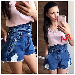 Женские джинсовые шорты качество люкс РАЗНЫЕ ЦВЕТА (Фабричный Китай)  В504-1405