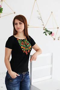 Вишита жіноча футболка Старовинний орнамент А-12