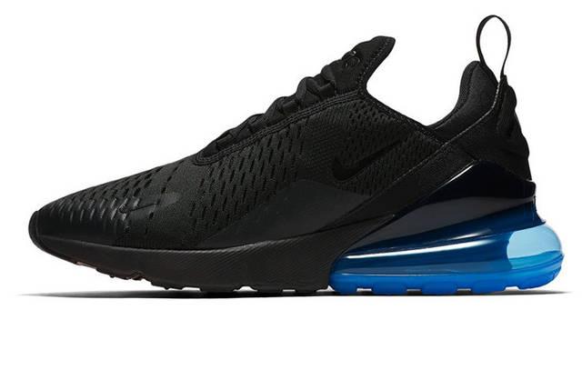 Мужские кроссовки Nike Air Max 270 Black Blue, фото 2