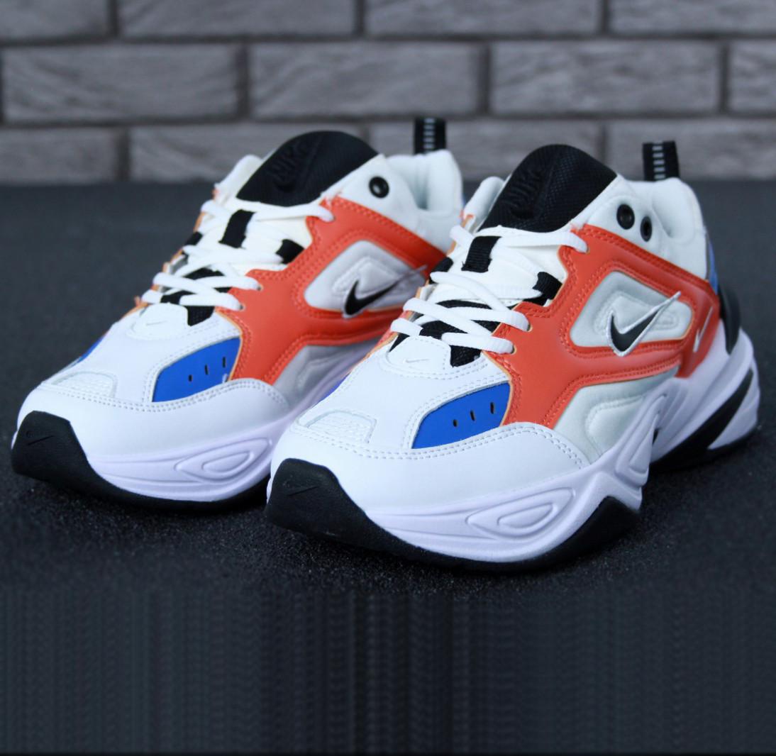 Nike M2K Tekno White red blue (реплика)