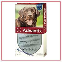 Капли Advantix на 25-40 кг (Адвантикс) для Собак от Клещей и Блох (4 пипетки/4,0 мл)