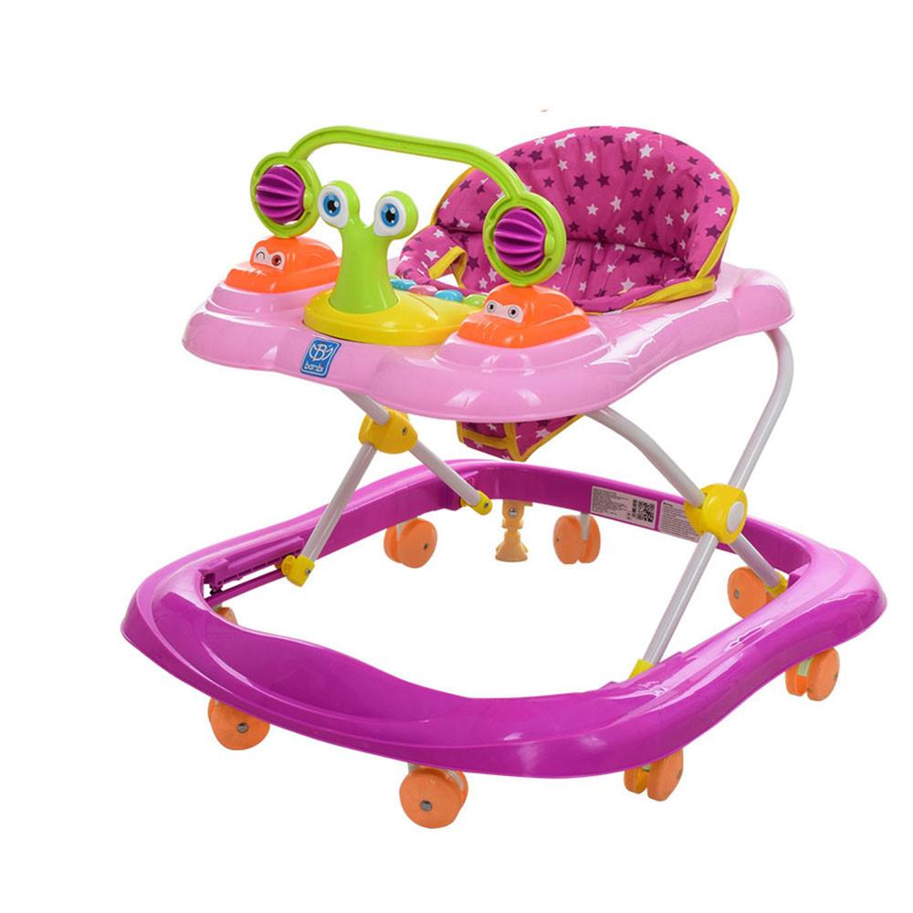 Ходунки детские музыкальные Улитка M 3663 Pink Гарантия качества Быстрая доставка