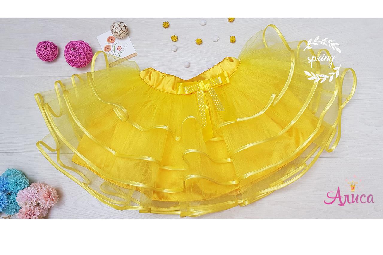 Юбка- пачка желтая