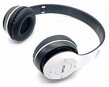 Беспроводные блютуз наушники с радио и MP3 плеером FM Bluetooth UKC P47 белые