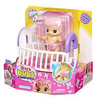 Интерактивная куколка Moose Бизи Бабс Грейси прыгает в кроватке пьет из бутылочки Little Live Bizzy Bubs