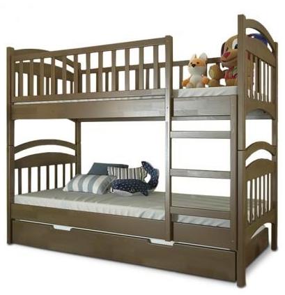 """Кровать двухъярусная детская """"Смайл"""" TM ArborDrev, фото 2"""