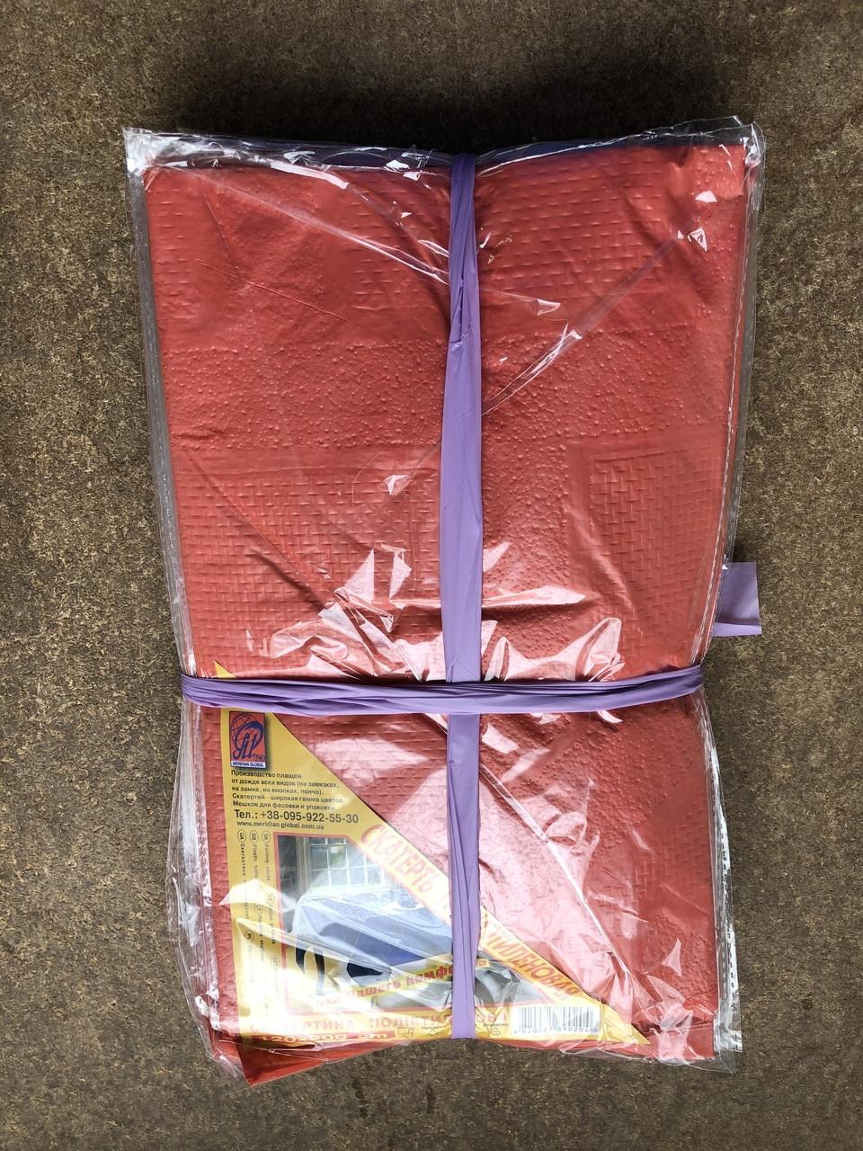 Скатерть полиэтиленовая для стола 120*200 см красная