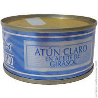 Тунец в подсолнечном масле Hacendado Atun Claro En Aceite De Girasol 80 г (Испания), фото 1