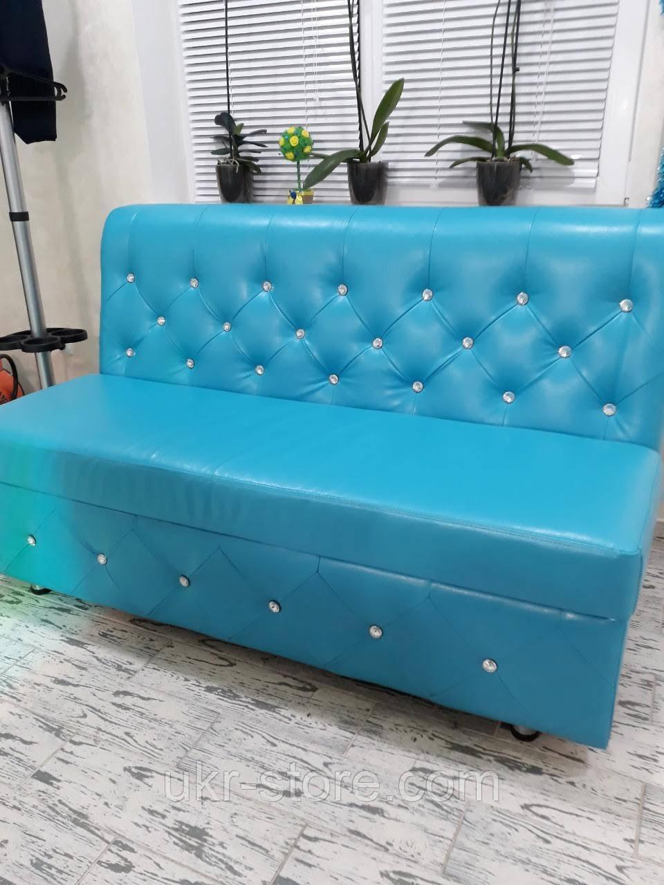 Мягкий диван бирюзового цвета
