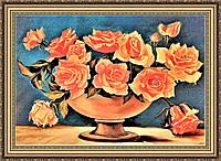 Картина в багетной раме Букет Роз 300х400 мм №657