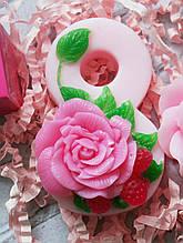 Мыло ручной работы 8 марта розовое