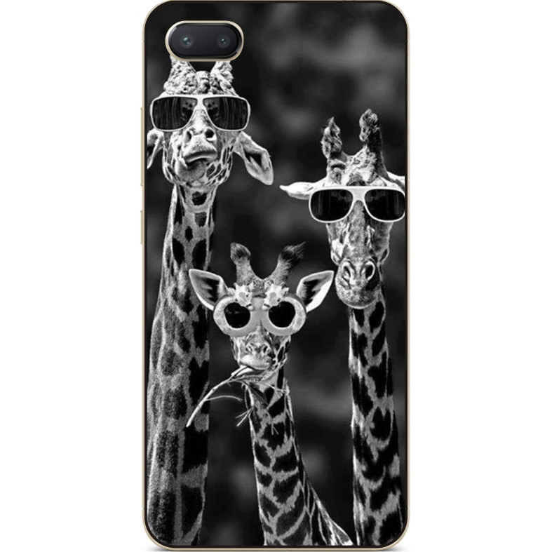 Силиконовый чехол бампер для Iphone 7 plus с рисунком Жирафы