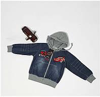 Куртка для мальчика  9522 (джинсовая тачка) весна-осень, размеры на рост от 74 до 98 возраст от 1 до 4 лет, фото 1