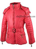 Куртка для девочек  демисезонная 5-9 лет цвет коралловый, фото 1