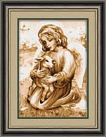 Набор для рисования камнями (холст) Ангел с козленком LasKo