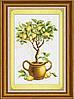 Набор для рисования камнями (холст) Лимонное дерево LasKo