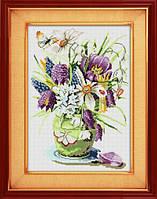 Набор для рисования камнями (холст) Весенние цветы LasKo