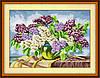 Набор для рисования камнями (холст) Сирень в вазе LasKo