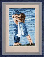 001L Набор для рисования камнями(холст)Дети на пляжеLasKo