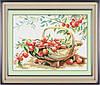 001К Набор для рисования камнями(холст)Корзина со сливамиLasKo