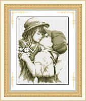 002L Набор для рисования камнями(холст)Первый поцелуйLasKo