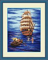 Набор для рисования камнями (холст) Отплытие LasKo