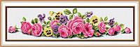 Набор для рисования камнями (холст) Розовые розы LasKo