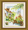 Набор для рисования камнями (холст) Цветочный дворик LasKo