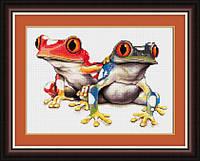 Набор для рисования камнями (холст) Красочные лягушки LasKo