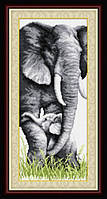 Набор для рисования камнями (холст) Слоны LasKo