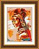 Набор для рисования камнями (холст) Африканка LasKo