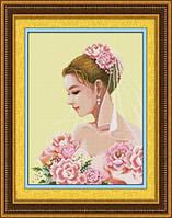 Набор для рисования камнями (холст) Невеста LasKo