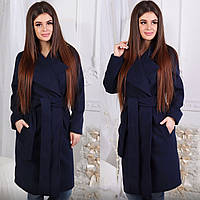 Весеннее пальто, темно-синий