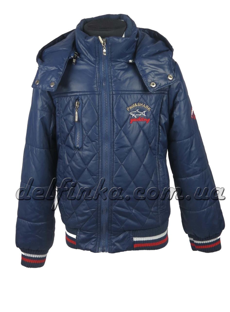 Куртка демисезонная теплая, на флисе, 1-4 лет, цвет синий