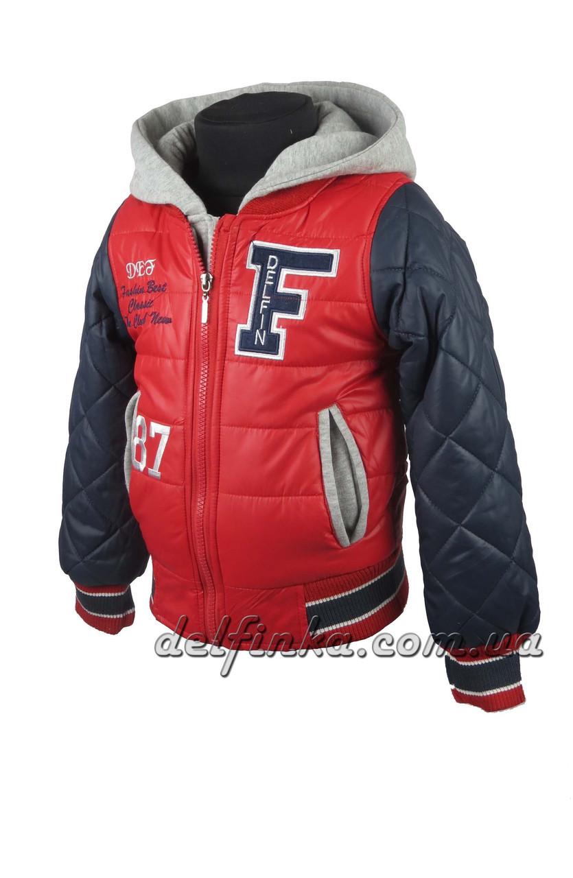 Куртка  для мальчиков  демисезонная 3-7 лет цвет красный с синим