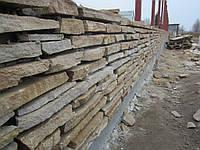 Забор из песчаника под двухстороннюю расшивку , Михайловка - Рубежовка