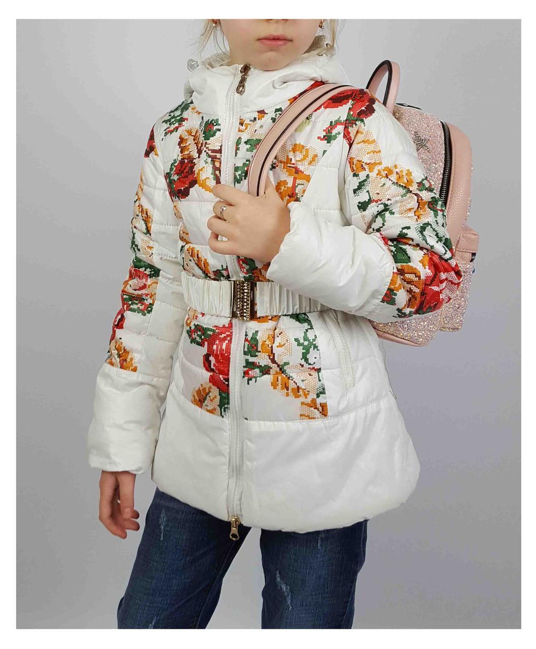 Куртка для девочки  1821 весна-осень, размеры на рост от 122 до 146 возраст от 6 до 10 лет