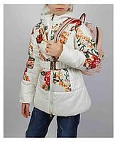 Куртка для девочки  1821 весна-осень, размеры на рост от 122 до 146 возраст от 6 до 10 лет, фото 1