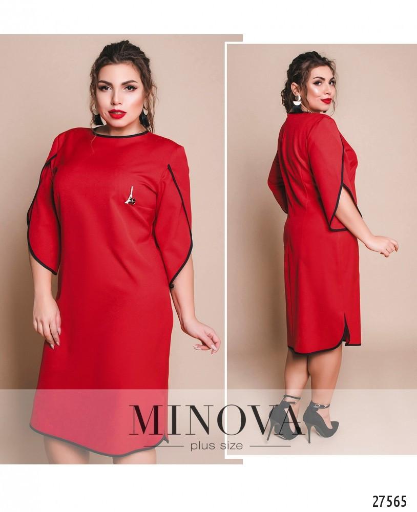 Стильное платье     (размеры 48-62)  0148-69