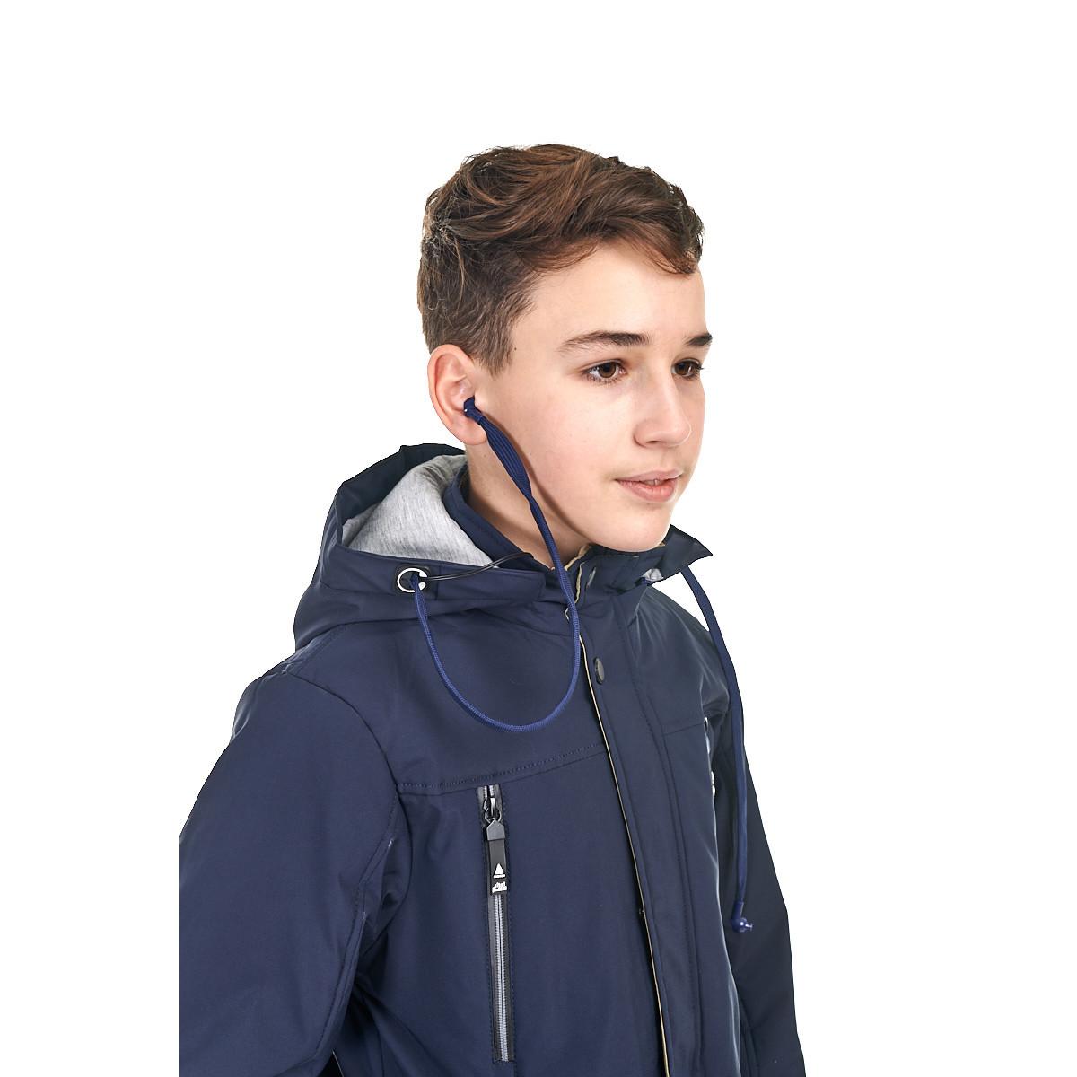 Осенняя куртка на мальчика от 9 до 14 лет, куртка с наушниками