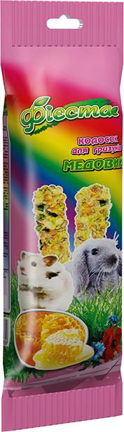 Фиеста Колосок для грызунов Медовый, Природа, 100 г, 2 шт.