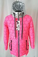 Весенняя куртка для девочек подростков 38-42 малиновый, фото 1