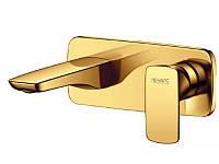 Змішувач для умивальника вбудовуваний NEWARC Life Золото, фото 1