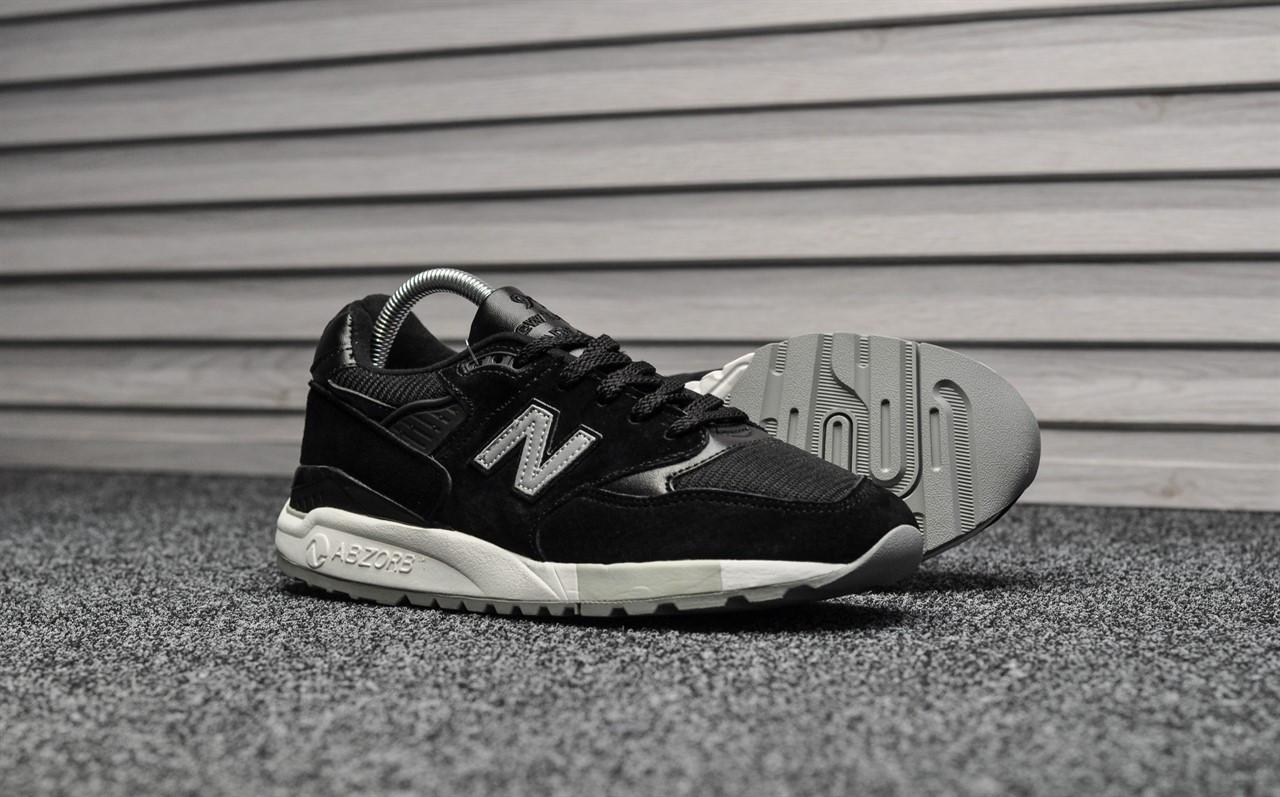 Мужские кроссовки New Balance 998 NJ Black. Натуральная замша. Рефлектив. Подошва ABZORB