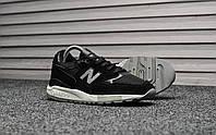 Мужские кроссовки New Balance 998 NJ Black. Натуральная замша. Рефлектив. Подошва ABZORB, фото 1