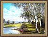 Картина в багетной раме У пруда 400х500 мм №347
