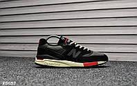 Мужские кроссовки New Balance 998 Black Red. Натуральная замша. Рефлектив. Подошва ABZORB, фото 1