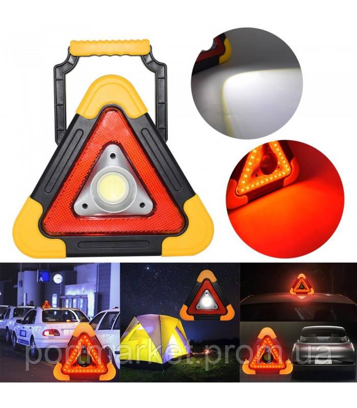 Аварийный знак Прожектор Hurry bolt (HB-6609) -COB+LED(STOP)